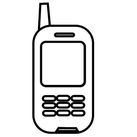 Cell Phone Clip Art Black And White | Clipart Panda - Free ...Old Cell Phone Clip Art