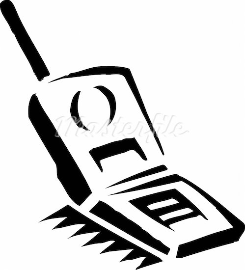cell phone clipart black and white - photo #15