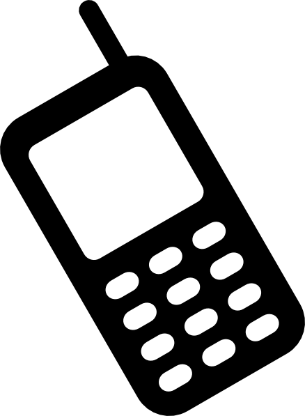 cell phone clipart black and white - photo #10