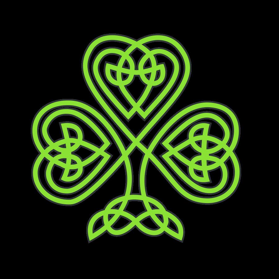 Celtic Cross With Shamrock Celtic clover .