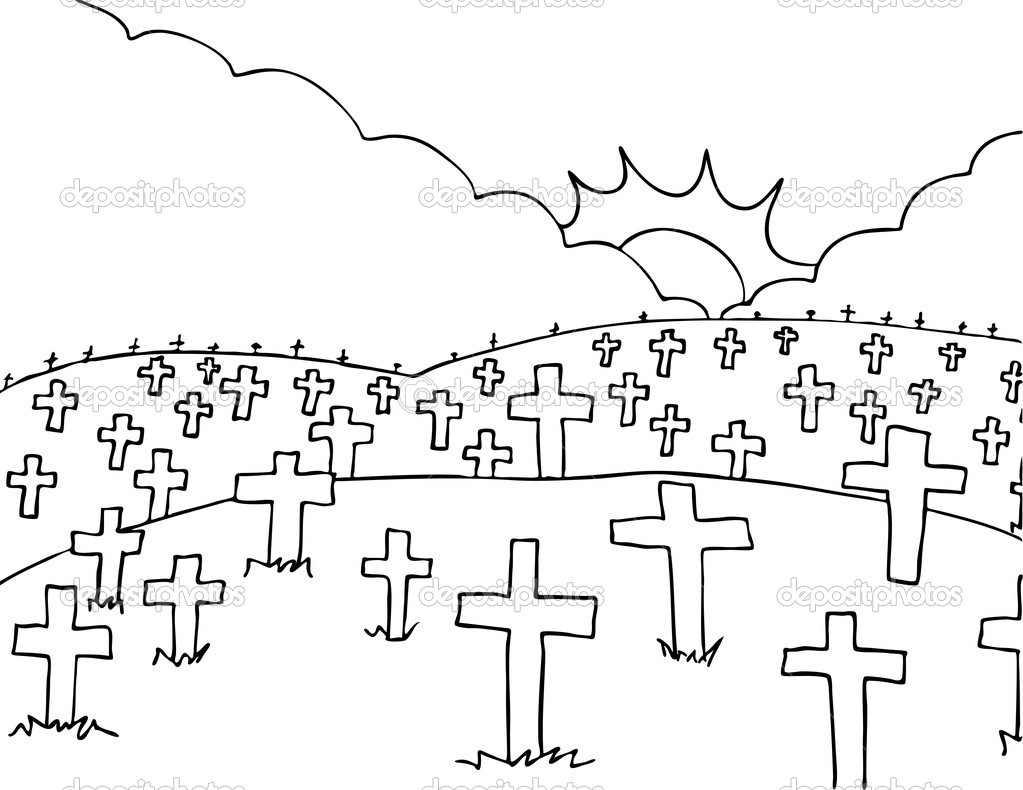 Peace Image Of A Cemetery With Clipart Panda Free