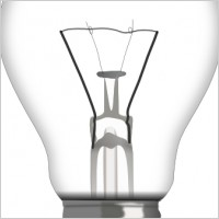 Compact fluorescent lightbulb Illustrations and Clip Art