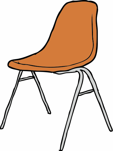 school chair drawing. school chair clipart drawing i