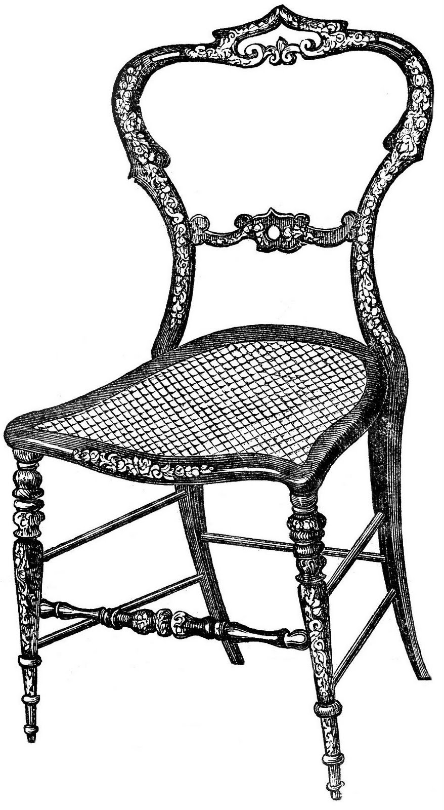 Black chair and white chair - Chair 20clipart 20black 20and 20white
