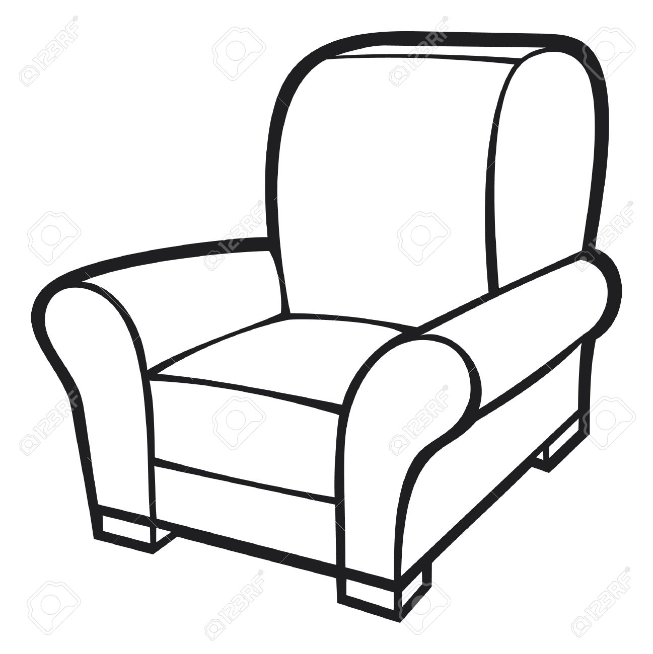 Chair Clip Art Free on White Leather Sofa Bed