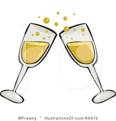 Champagne Glasses Toast Clipart