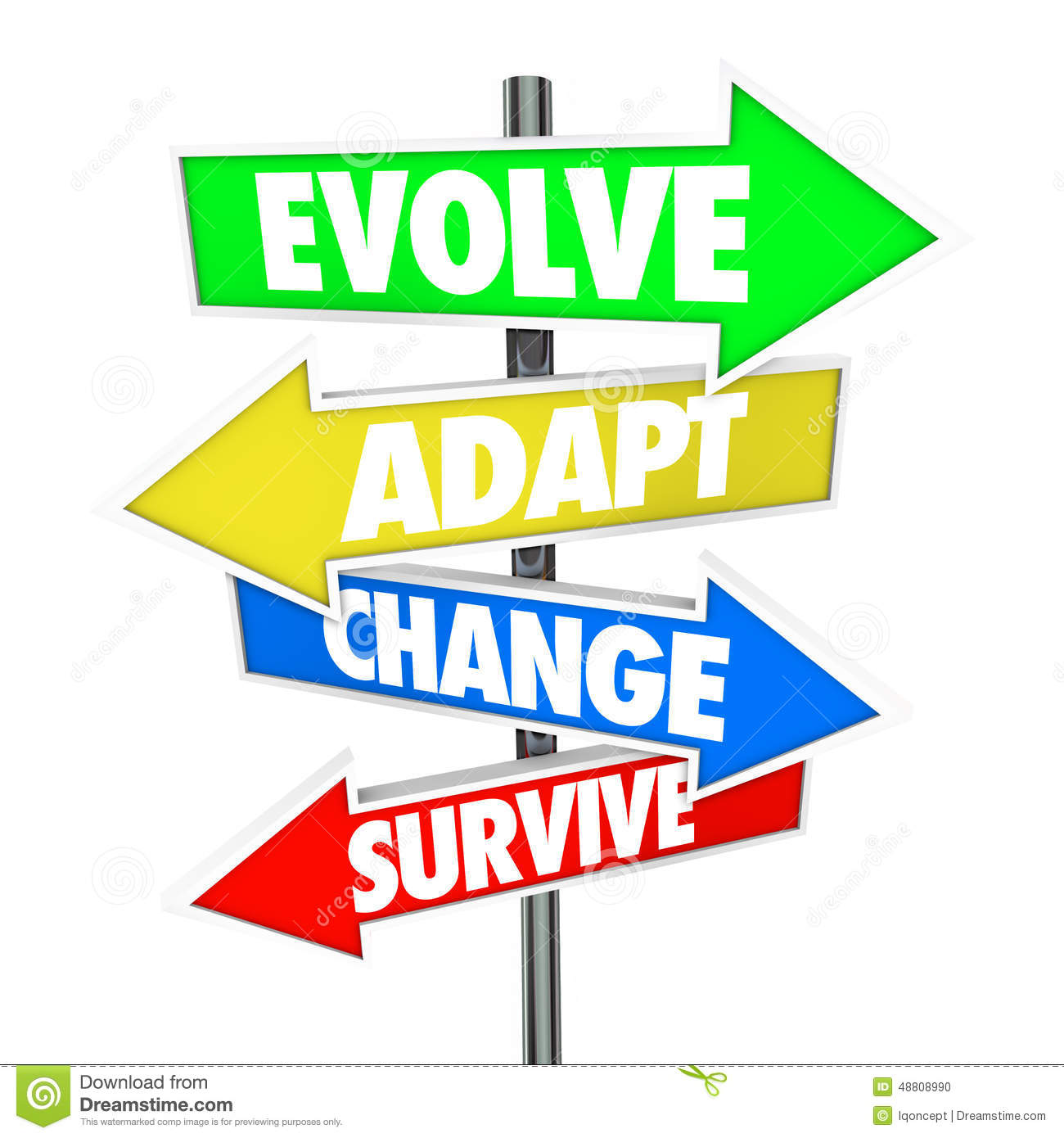 adapting to change Change is about it on every side, and it must adapt itself to this change or it will pass away.