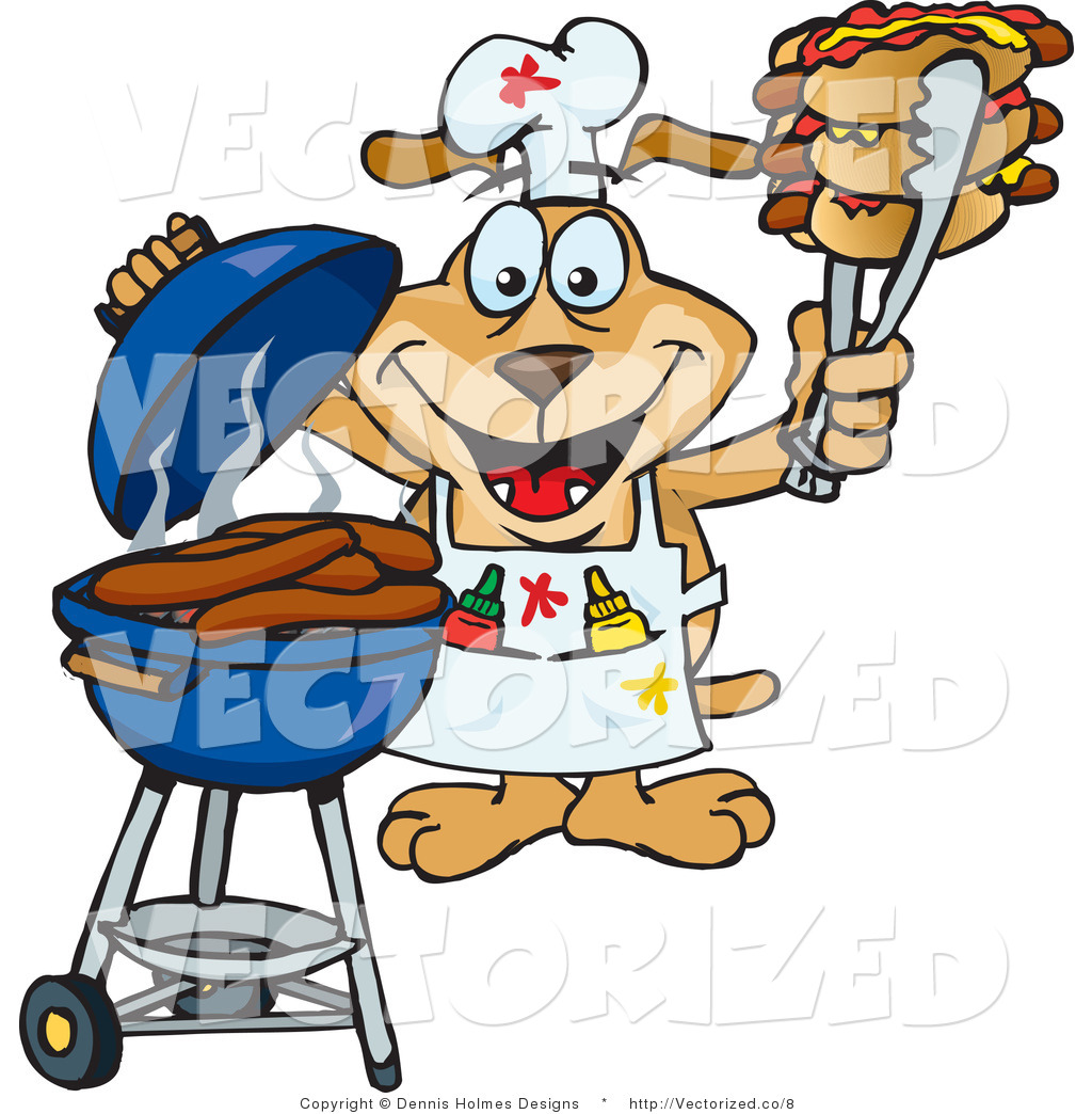 Dogs on a Charcoal Grill | Clipart Panda - Free Clipart Images