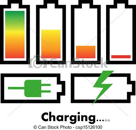 Vector Battery Charge Icons Clipart Panda Free