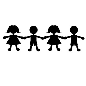 Kids Holding Hands Clipart Black And White | Clipart Panda ...