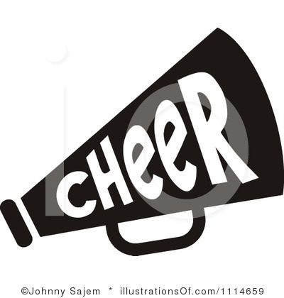 cheer megaphone clipart black and white clipart panda free rh clipartpanda com  cheerleading clipart black and white