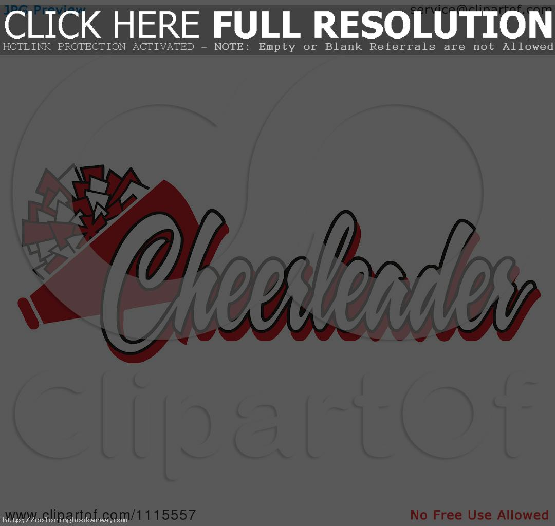 Cheer megaphone clipart black and white