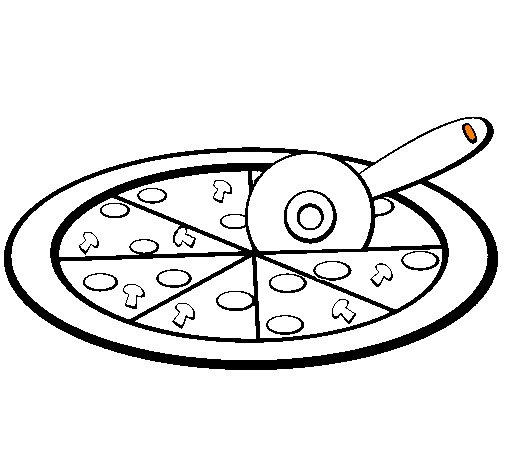 Cheese Pizza Coloring Page | Clipart Panda - Free Clipart Images