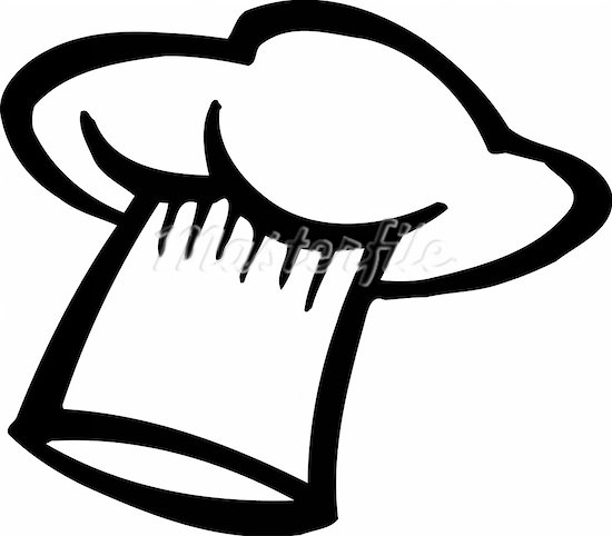 chef hat clipart black and white clipart panda free