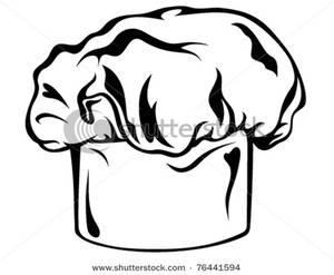 Chef Hat Clipart Black And White | Info