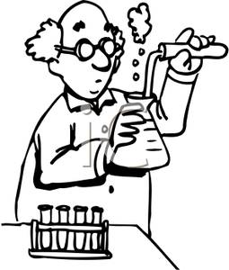 Chemistry clipart black and white clipart panda free for Chemistry coloring page