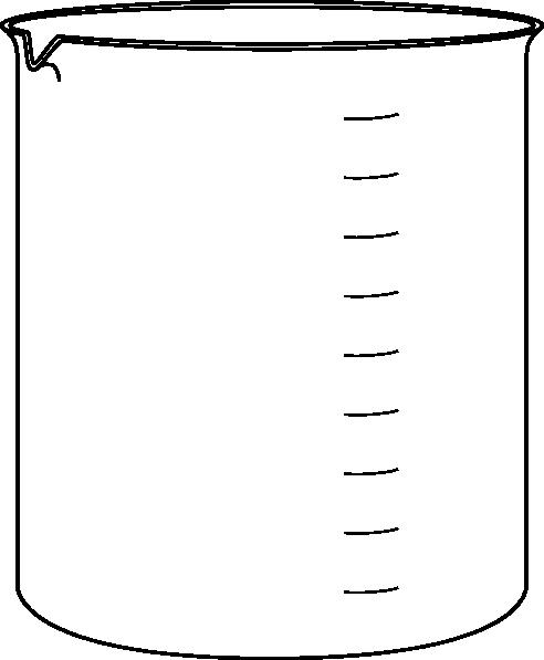 Chemistry Beaker Clipart Black And White | Clipart Panda ...