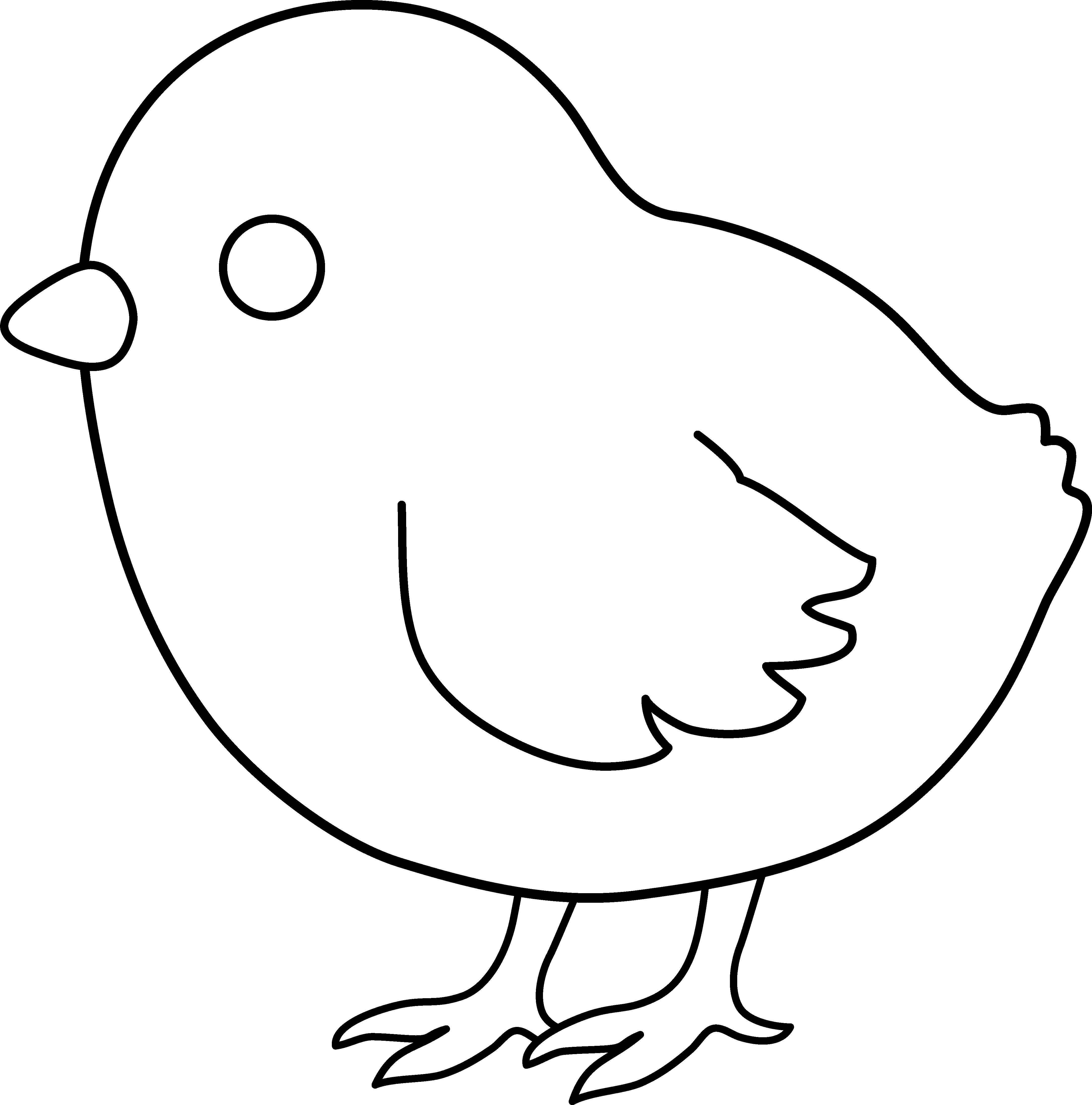 Line Art Baby : Chick clipart panda free images