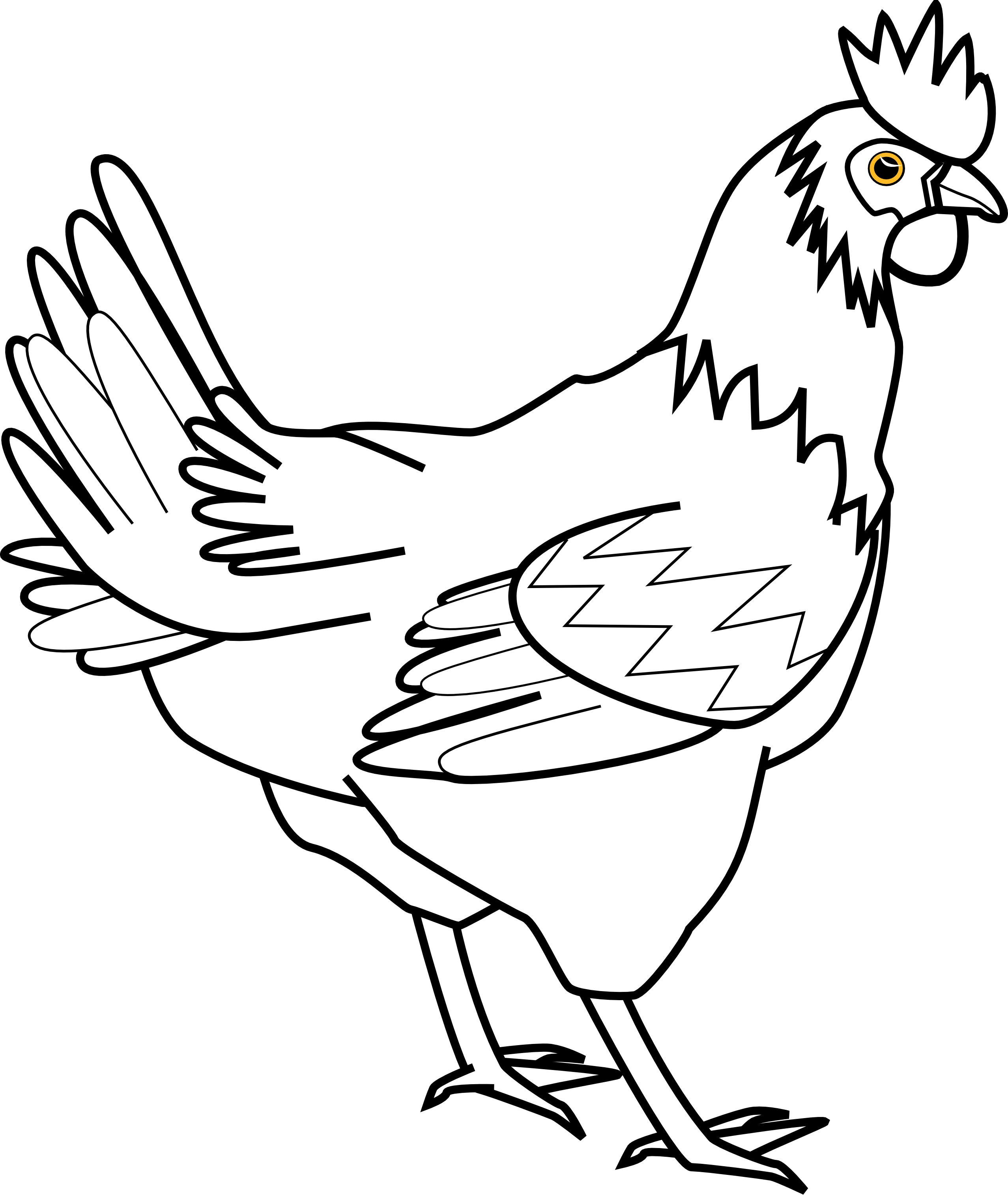 Clip Art Chicken Clipart Black And White cooked chicken clipart black and white panda free