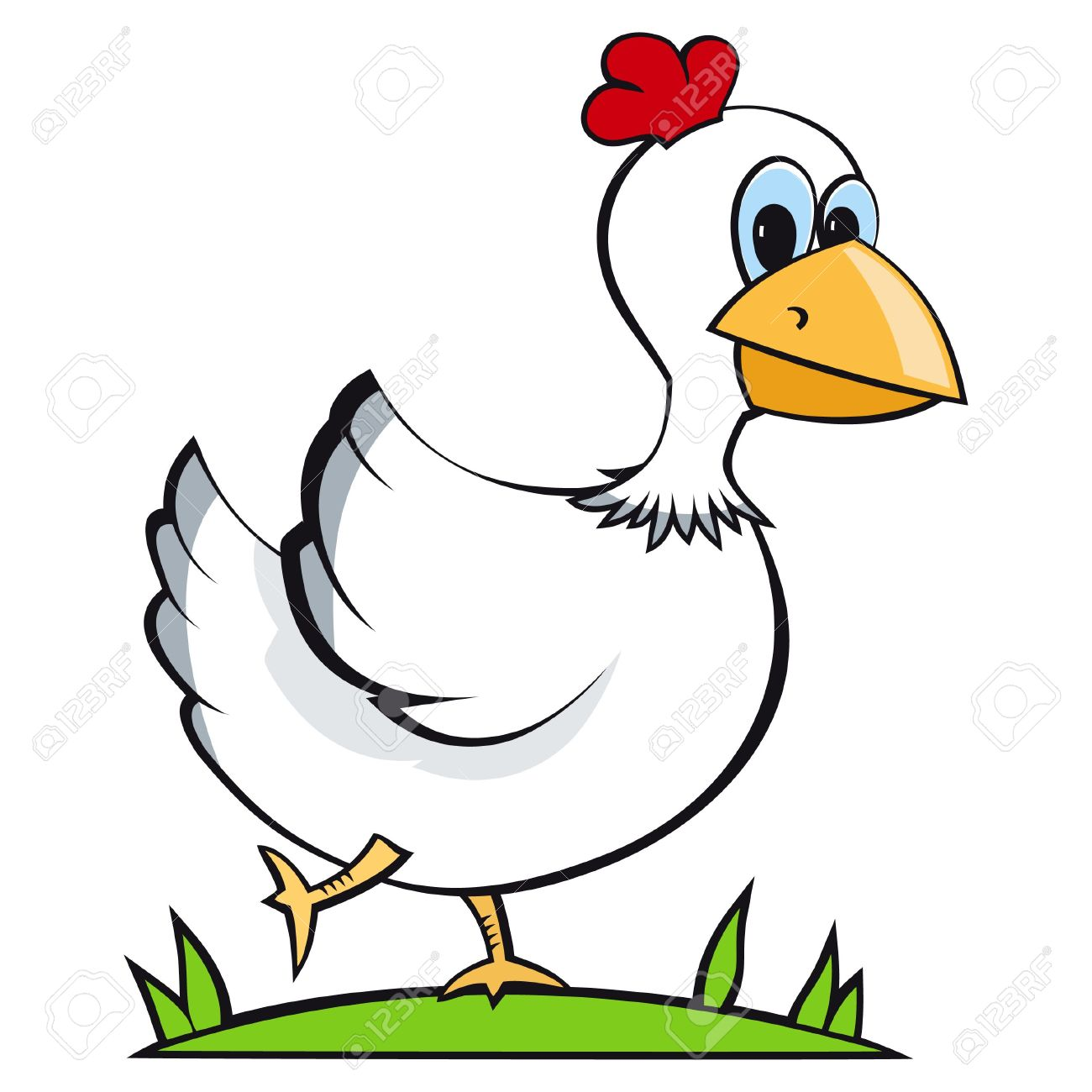 free clipart of cartoon chickens - photo #35