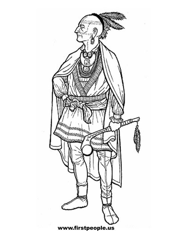 Seminole Indians Coloring Pages