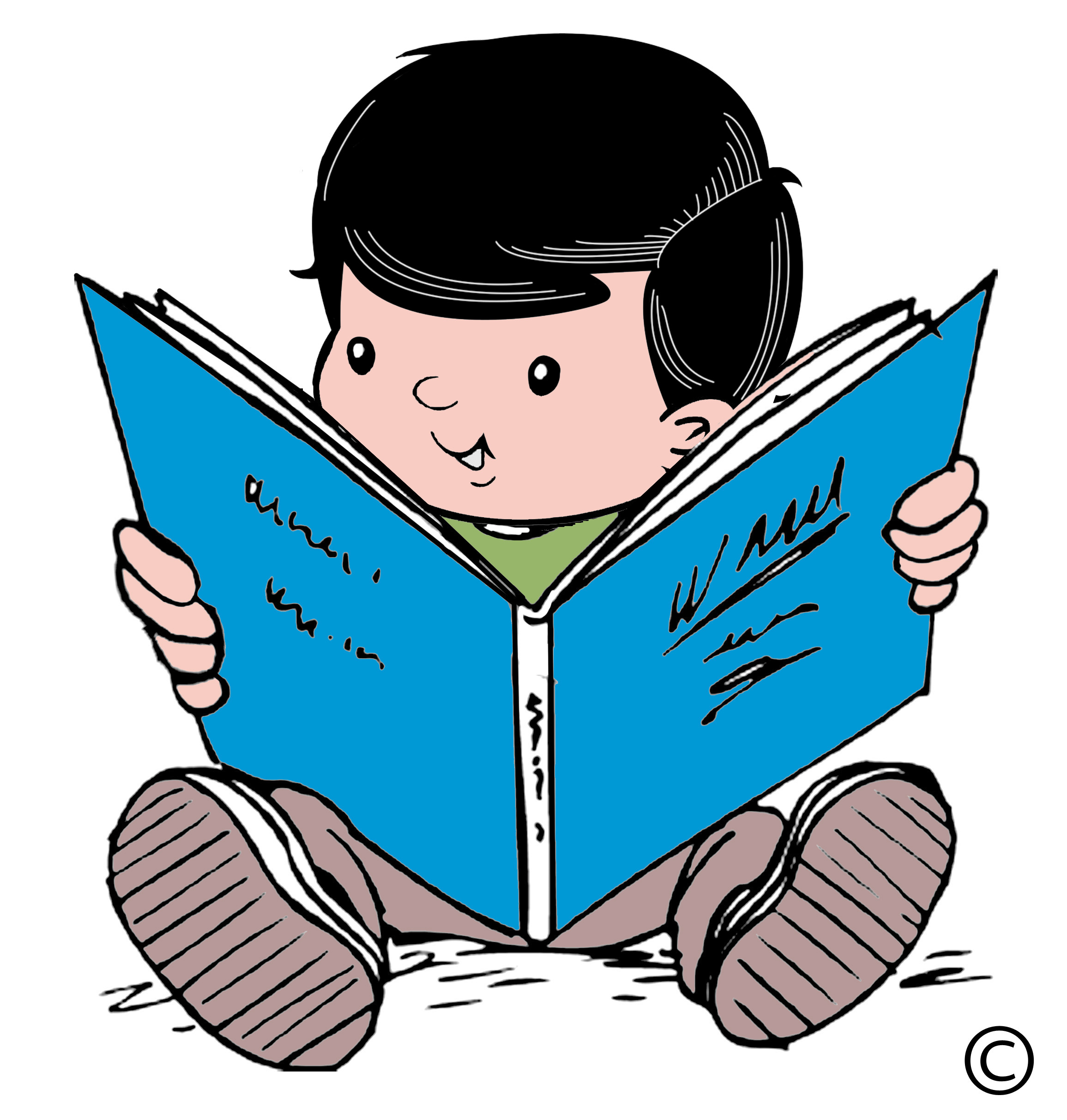 clipart child reading - photo #7