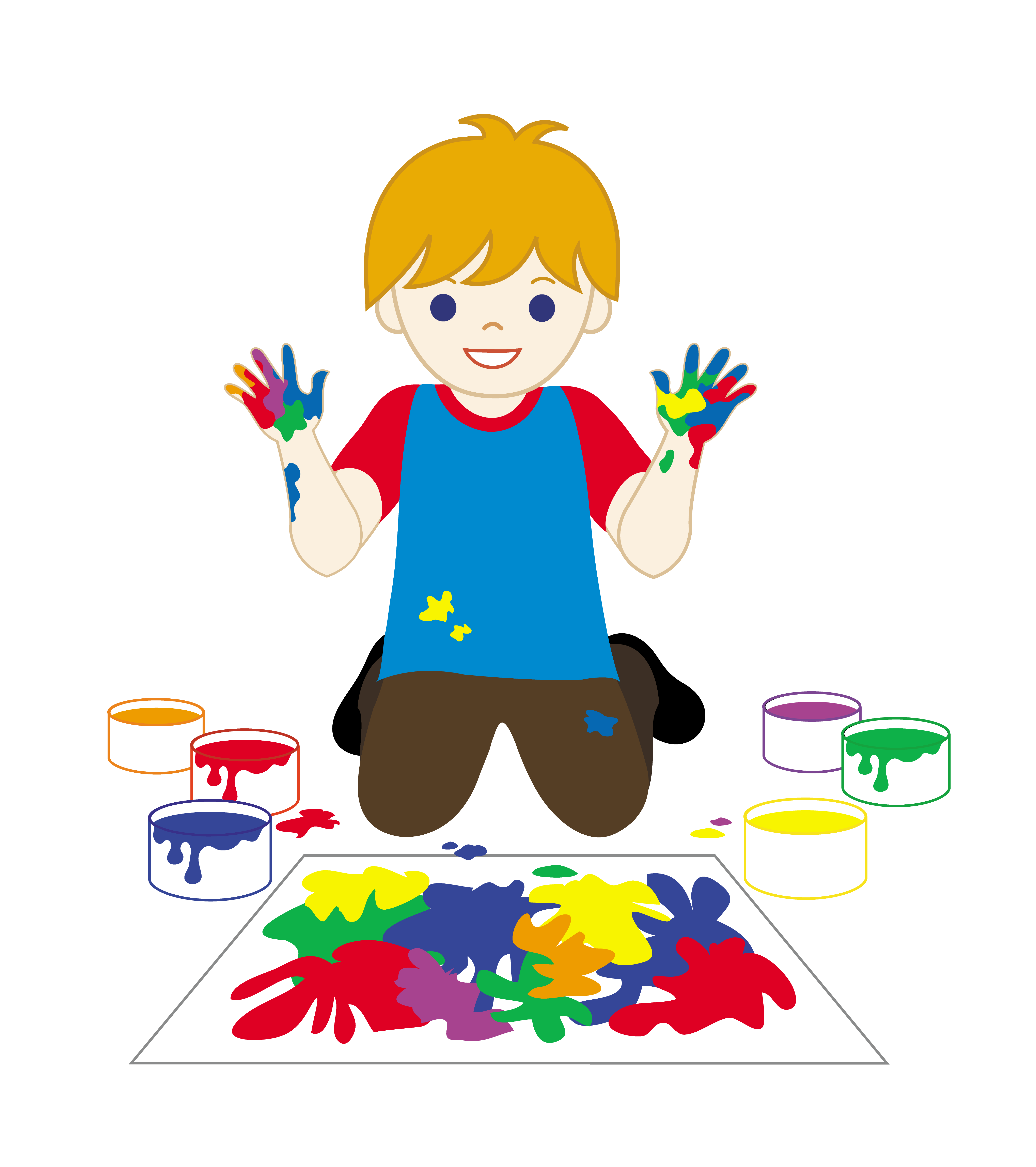 Free clip art clipart panda free clipart images for Paintings of toddlers