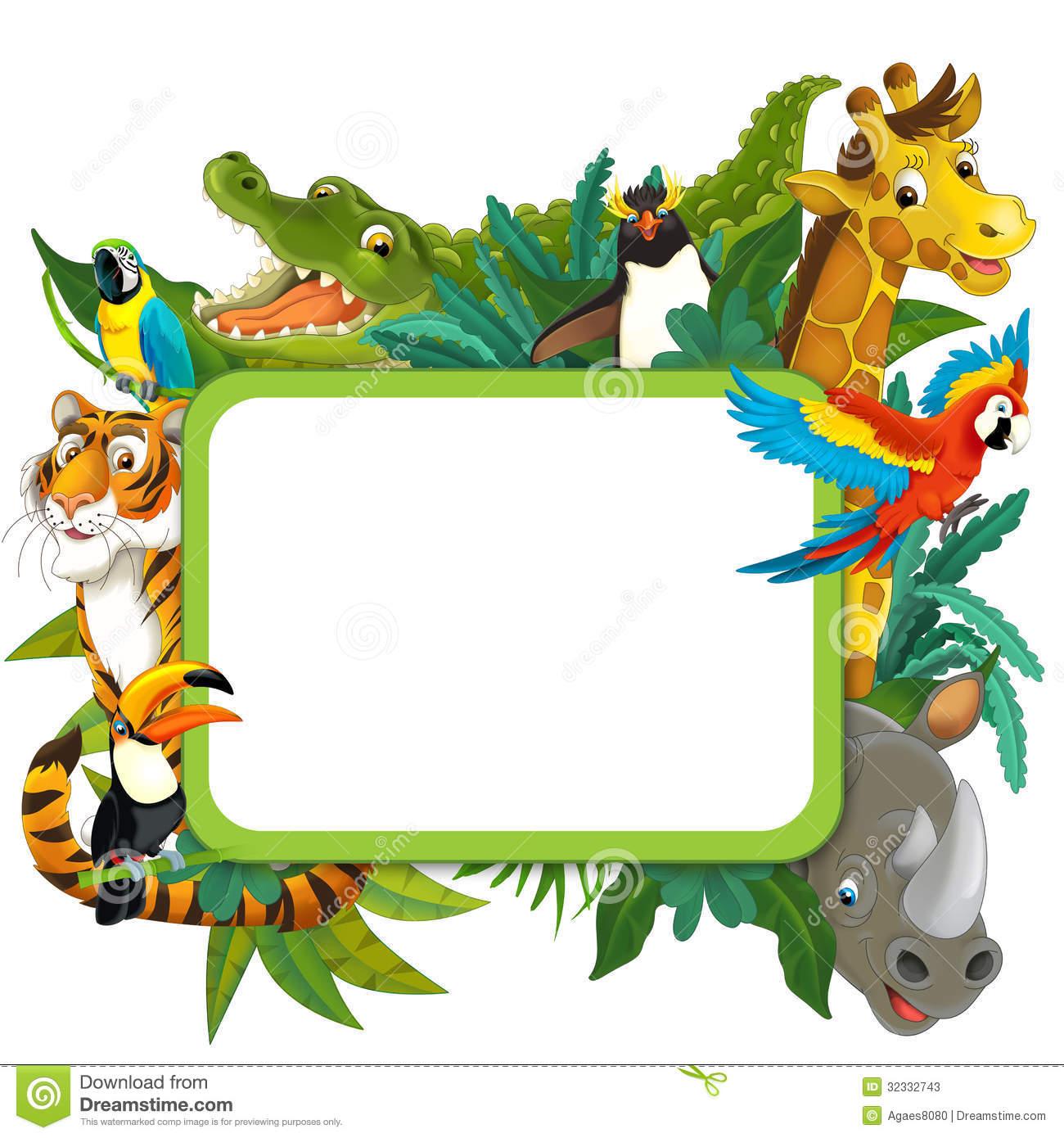 Safari border clip art