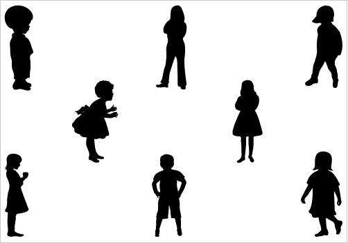 Children Clipart Silhouette | Clipart Panda - Free Clipart ...