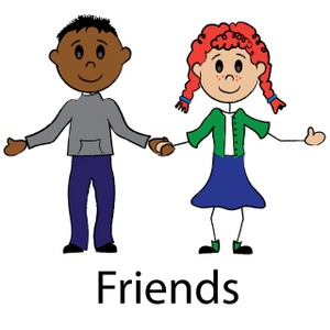 Children Holding Hands Clipart Black And White | Clipart Panda ...