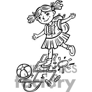 Children Playing Clipart Black And White | Clipart Panda ...