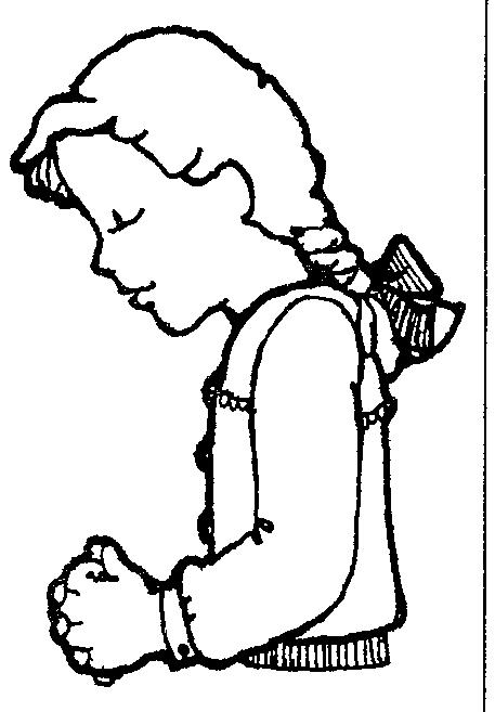 Children Praying Coloring Page