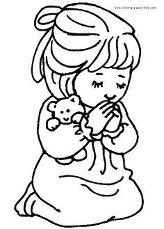 Child Praying Coloring SheetPrayingPrintable Coloring Pages Free