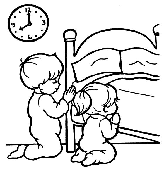 children praying coloring page clipart panda free clipart images - Coloring Pictures Of Children