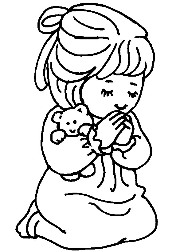 Coloring Pages Child Praying Coloring Pages