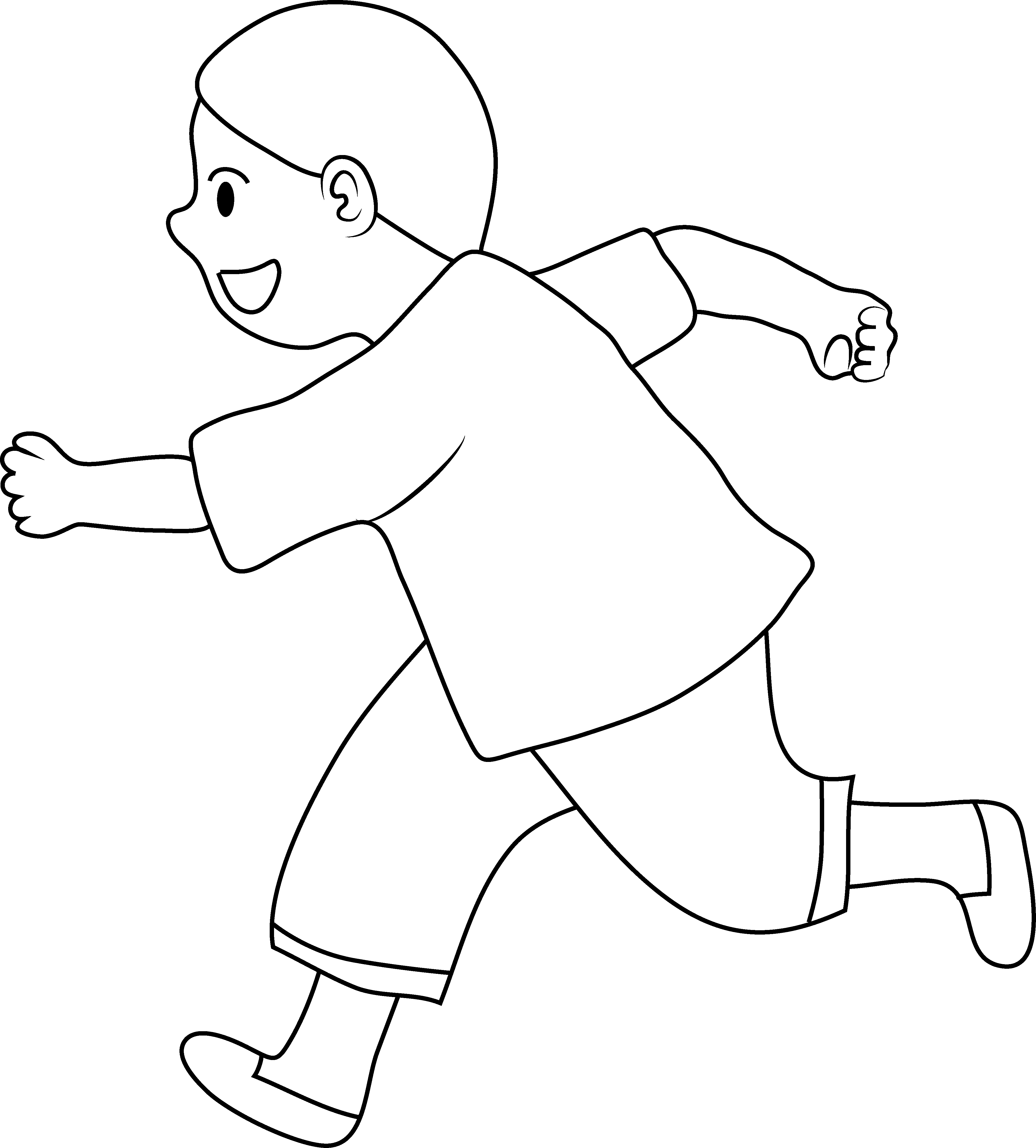 Line Art For Kids : White kids clip art black clipart panda free