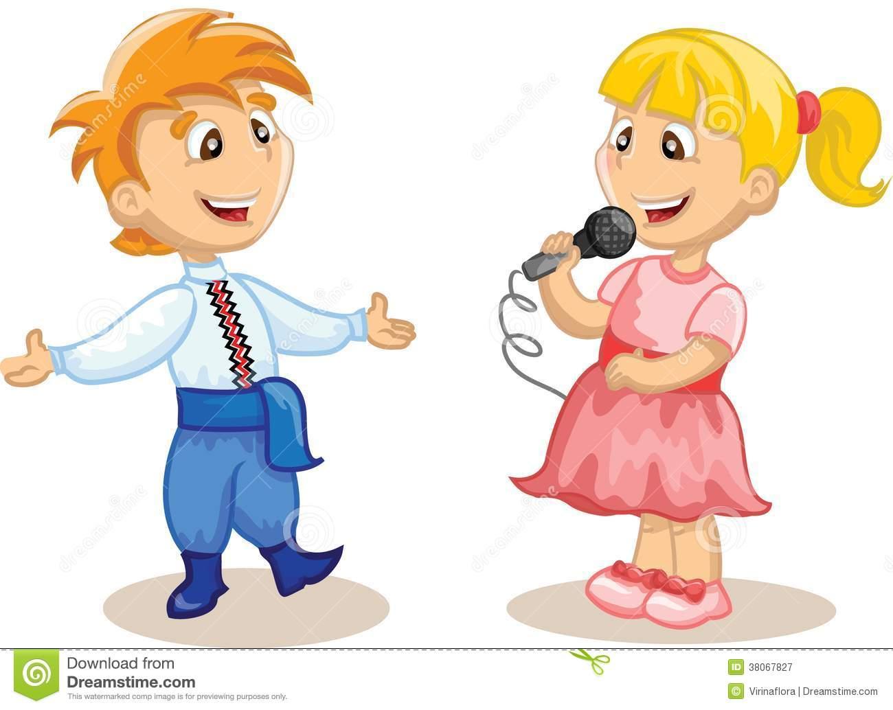 Kids Singing Clipart Children Singin...