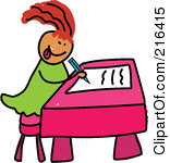 children%20writing%20clipart
