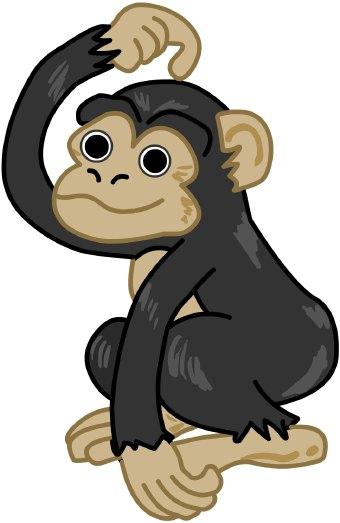 chimpanzee clip art clipart panda free clipart images rh clipartpanda com