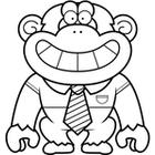 chimpanzee%20clipart%20black%20and%20white