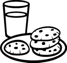 Chocolate Chip Cookie Coloring Page Clipart Panda Free Clipart