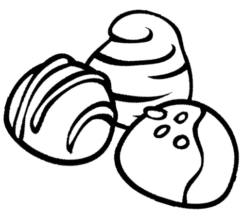 Free coloring pages of chocolate