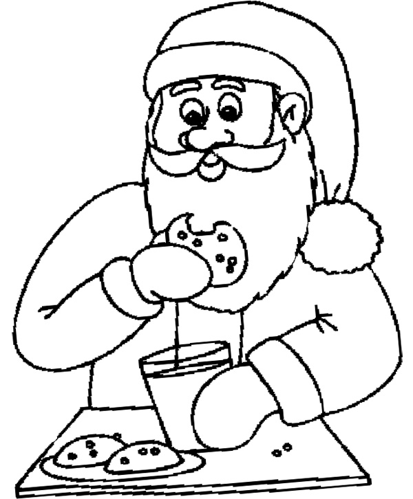 cocoa and cookies coloring pages - photo#36