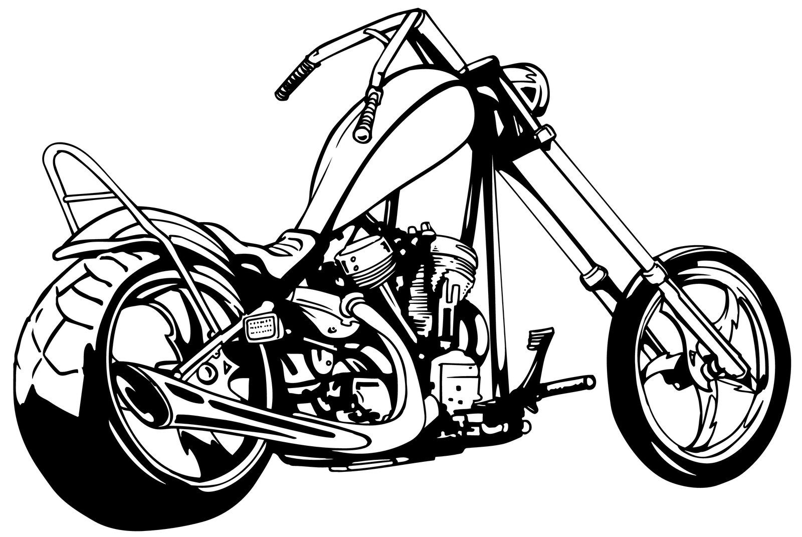Tribal Motorcycle Graphics : Motorcycle Tribal Clipart Black And White  Clipart Panda - Free ...