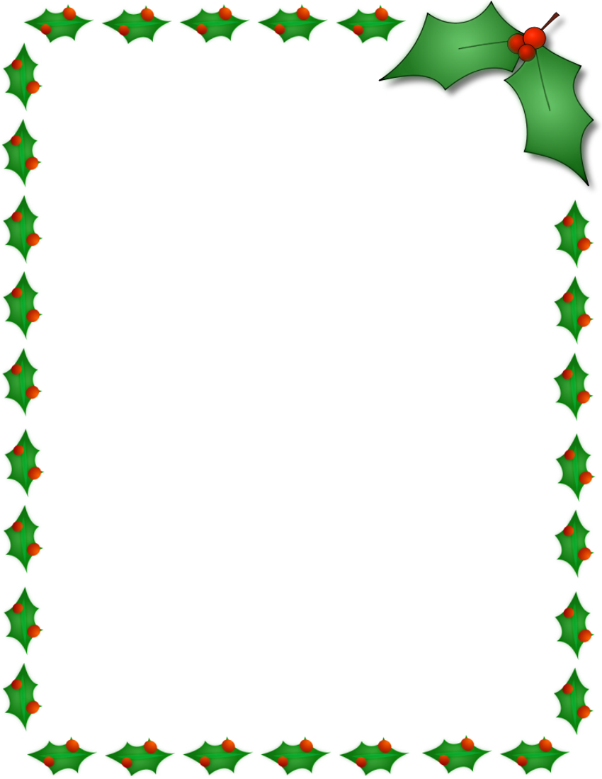 free holiday border templates microsoft word