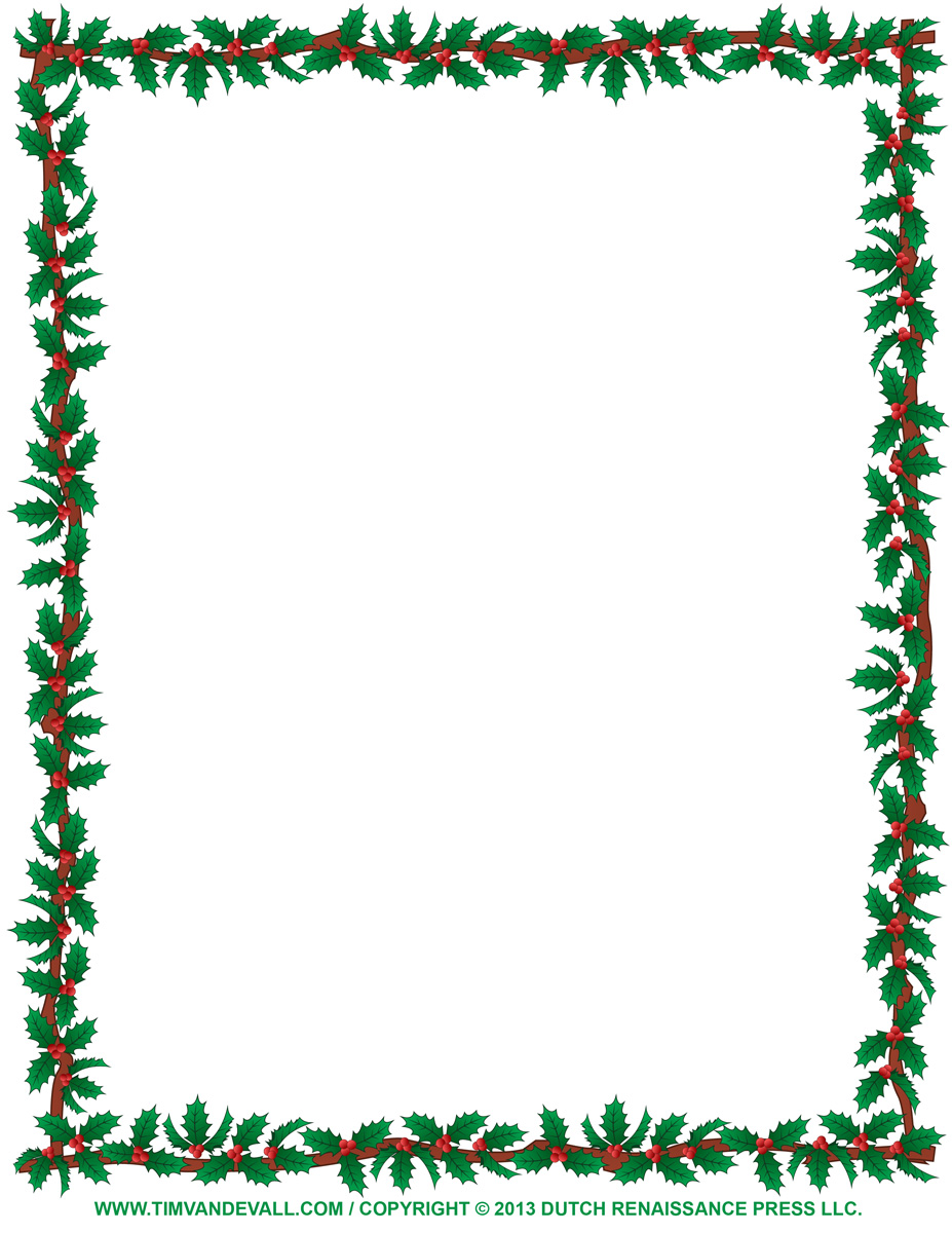Christmas Clip Art Borders For Word Documents Clipart Panda intended for Free Clip Art Borders For Word