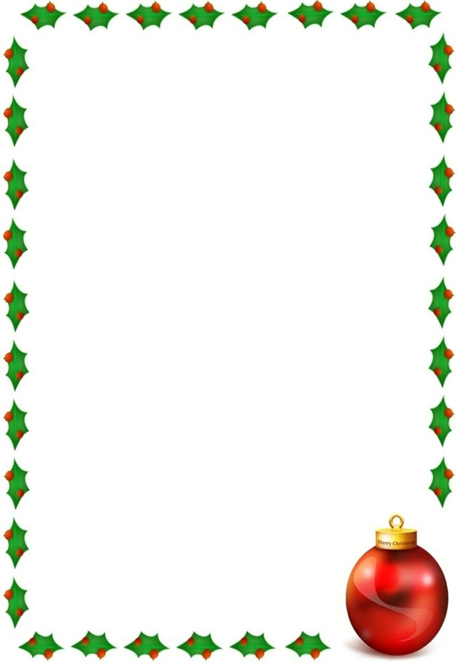 Christmas Clip Art Borders For Word Documents Clipart