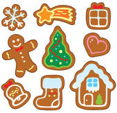 christmas cookie clip art black and white clipart panda. Black Bedroom Furniture Sets. Home Design Ideas