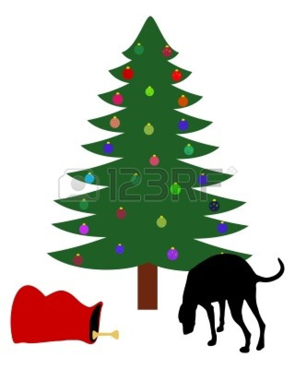 free christmas clip art with dogs - photo #19