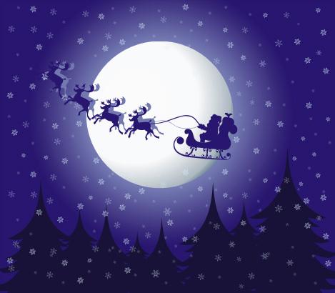 christmas eve clipart christmas eve vector graphic - Christmas Eve Clipart